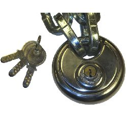 80mm Discus Padlock (11mm shackle) - Dimple Key