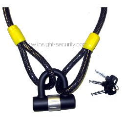 15mm x 2100mm Security Cable with U-Lock Pack