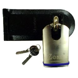 Zone 50mm Closed Shackle Padlock with Heavy Duty Hasp