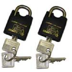 50mm Atlantic - Double Locking Marine Padlock - Pack of 2 x