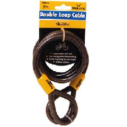 Heavy Duty Double Loop Security Cable - 12mm x 2.1 metres
