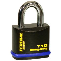 Federal FD710 Hi-Secure Open Shackle Padlocks - (46mm body / 8mm shackle)