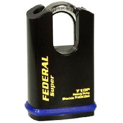 Federal FD 710P Hi-Secure Closed Shackle Padlocks - (46mm body / 8mm shackle)