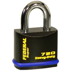 Federal FD720 Hi-Secure Open Shackle Padlocks - (54mm body / 9.5mm shackle)