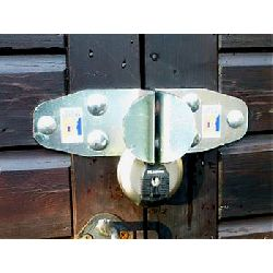 High Security Sold Secure Bronze Hasp & Master Discus Padlock Set