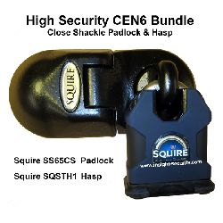 Squire STH1 Padbar and SS65CS Padlock CEN6 Bundle