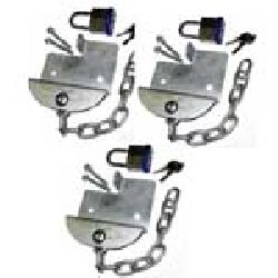 Wheelie Bin Locks - chain length 250mm - multisaver pack of 3 (keyed alike padlocks)
