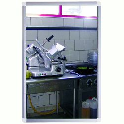 VIALUX Framed Flat Shatterproof Mirror in PMMA with choice of sizes