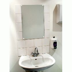 VIALUX Frameless Flat Shatterproof Mirrors - choice of sizes