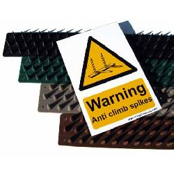 Anti Climb Prikla Hinge-Strip - 4 metre pack with Hi Viz Warning Sign