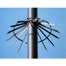 Spiked Anti Climb Collars for Round Poles - pole diameters 114-139-168mm (4.5, 5.5 or 6.5