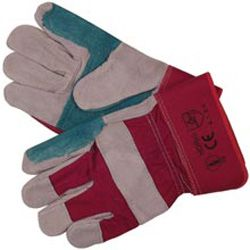 Heavy Duty Reinforced Rigger Gloves - Size:Large - handling anti climb spikes etc