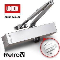 Union RetroV Variable Power 3-4 Overhead Door Closer