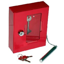 In-Key - Emergency Break Glass Key Cabinet with Hammer