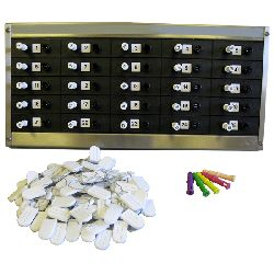 Key-Trak Mechanical Key Tracker & Control system (for up to 25 keys / bunches)