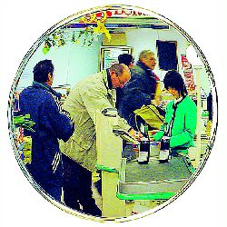 Round Retail Security Mirrors - choice of sizes