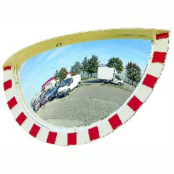 Half Round 3 Direction Vialux Traffic Mirror - choice of sizes