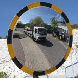 600mm Budget Outdoor Hi-Viz Mirror with Post Fix Bracket (MVD:11mtr)