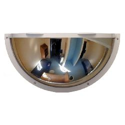 Institution Half Dome Anti Ligature Mirror - Polycarbonate 600x300mm