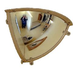 Institution Quarter Dome Anti Ligature Mirror - Polycarbonate 300x300mm
