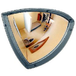 Institution Quarter Dome Anti Ligature Mirror - Stainless Steel 250x250mm