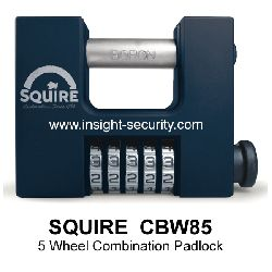 Squire CBW85 High Security 85mm Block Wide Clearance Combination Padlock