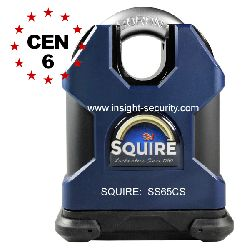 Squire SS65CS CEN6 High Security Stronghold 65mm Solid Steel Close Shackle Padlock