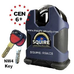 Squire SS80CS High Security 80mm NW4 Extreme Close Shackle Padlock