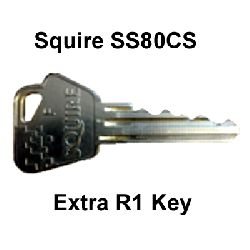 Extra Key for Squire SS80 R1 when ordered with padlock