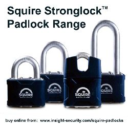 Squire Stronglock Padlocks – Choice of size and type