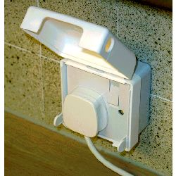 Socket Pro -Safety Cover (Hinged Clip-Lid) - for Single 13a Socket
