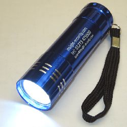 Super Bright Pocket Rocket 9 LED Torch (operates from 3 x AAA batteries - supplied)