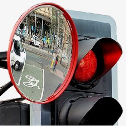 Vialux Cyclist Safety Convex Mirror