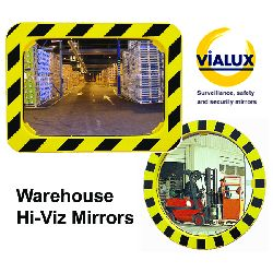 Warehouse Mirrors Yellow-Black framed - choice of sizes