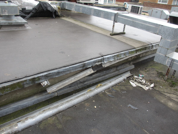 guttering damage caused by free runners