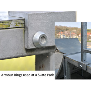 armour-ring-installed-over-hex-head-bolt-at-skatepark