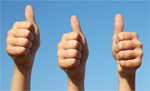 Thumbs Up Customer Feedback