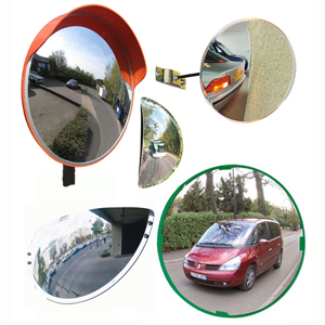 driveway exit and parking mirrors