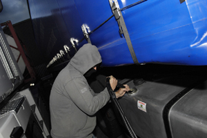 fuel-theft from HGV fuel tank