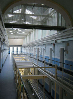 HMP Winchester - internal use of Roller Barrier, anti-climb paint and special beam covers