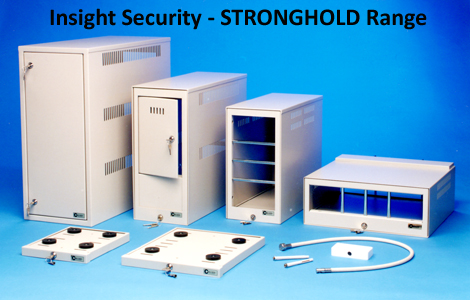 Stronghold Security Enclosures and lock down plates