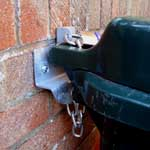 Wheelie Bin Lock Wall Anchor with bin