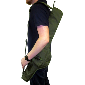 Search Mirror Carry Bag on shoulder