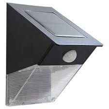 wedge style IP44 rated solar powered security light