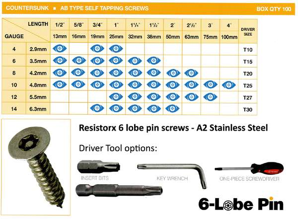 Pin Torx Tamper Proof Security Screws - from Insight Security