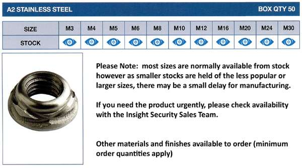 scroll nut stock sizes