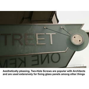 two-hole-screws-securing-glass-sign