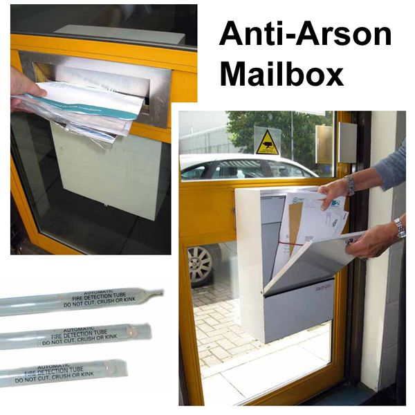 maipro anti arson mailbox with fire extinguishers