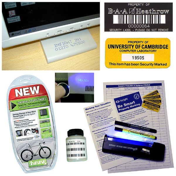 asset security marking and labels