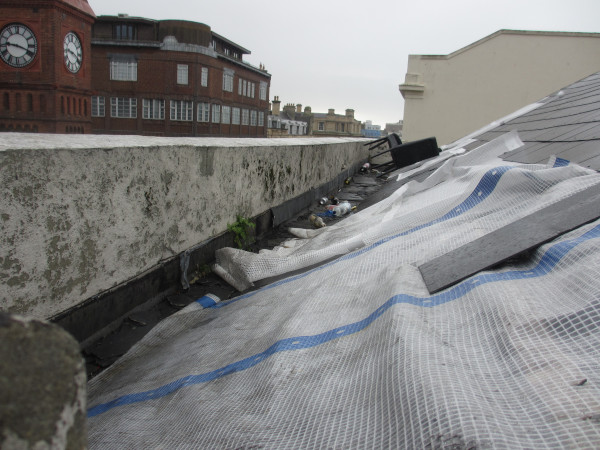 roof damage and littering due to free runners